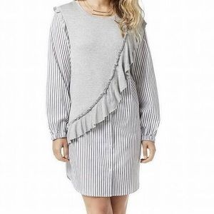 Kensie Button Down Striped Shirt Dress